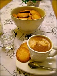 An espresso with madeleines