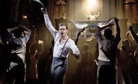 Ricky Martin and Elena Roger in 'Evita' at the Marquis Theater.