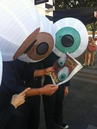 Eyeball-clad Pilobolus dancers in Seattle for Radiolab Live: In the Dark