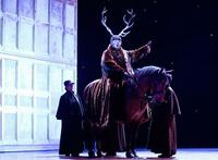 Ambrogio Maestri with Rupert the Horse in 'Falstaff'