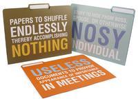 file folders with attitude