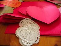 hearts, doily, valentines