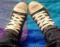 converse sneakers with forever young