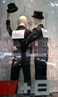 Gay marriage window display at Levis Store on 14th Street.