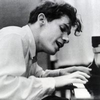 Glenn Gould at his debut recording of Bach's Goldberg Variations, 1955