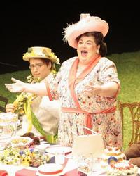 Christine Brewer (right) as Lady Billows, with Alek Shrader in the title role of LA Opera's 2012 production of 'Albert Herring'