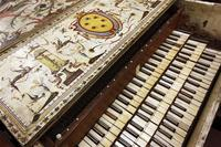 In this Dec. 7, 2011 photo, a three-row harpsichord from the University of Michigan's Stearns Collection of Musical Instruments lies in storage in Ann Arbor, Mich.