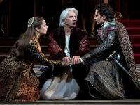 Barbara Frittoli, Dmitri Hvorostovsky, and Roberto De Biasio in Verdi's <em>Simon Boccanegra</em>