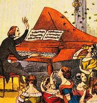 Franz Liszt performs in Berlin