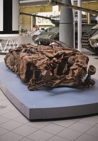 The wreckage of a car bomb that was detonated in Baghdad in 2007 that's on display at London's Imperial War Museum