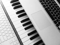 Computer and piano keyboards