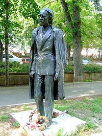 Zoltán Kodály monument in Pécs, Hungary.