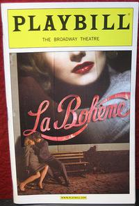 A playbill for 'La Boheme.'