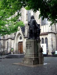 Johann Sebastian Bach Statue, near St. Thomas Church, Leipzig