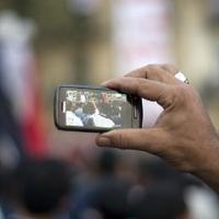 Egyptian protester livestreaming