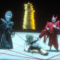Das Rheingold at LA Opera: Vitalij Kowaljow (Wotan), Gordon Hawkins (Alberich), and Arnold Bezuyen (Loge)