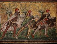 Late 6th century mosaic at the Basilica of Sant'Apollinare Nuovo in Ravenna, Italy.