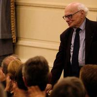 Milton Babbitt at his 90th birthday celebration at Carnegie Hall