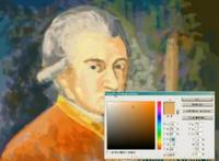 Martin Missfeldt 'speed painting' of Mozart.