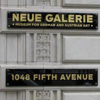 Neue Galerie Sign