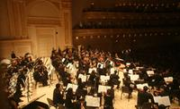 The New York Youth Symphony, performing in Carnegie Hall in December of 2007