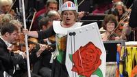 Soprano Susan Bullock sings 'Rule Britannia' at the BBC Proms