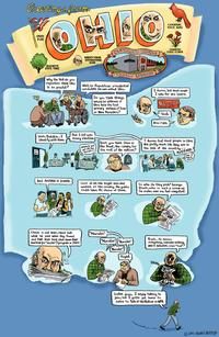 The comic strip Harvey Pekar wrote when The Takeaway visited him in 2007