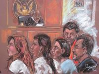 Five of the 10 arrested Russian spy suspects in a New York courtroom on June 28, 2010.