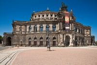 The Semperoper opera house in Dresden, Germany.