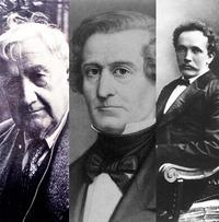 Ralph Vaughan Williams (left to right), Hector Berlioz, Richard Strauss.