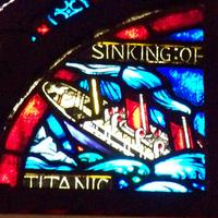 The story of Titanic is in stained glass at St. John the Divine.