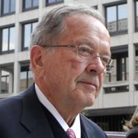 Former U.S. Sen. Ted Stevens arrives at the Federal Courthouse, April 7, 2009 in Washington, DC