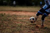 Soccer player in Kenya