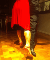 Yowei Shaw's parents practice their tango steps in Buenos Aires