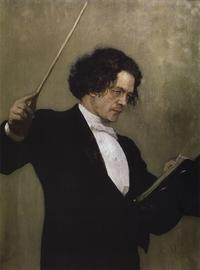 A portrait of the composer Anton Rubinstein from The State Russian Museum in St. Petersburg.