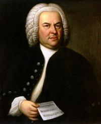 Johann Sebastian Bach (aged 61) in a portrait by Elias Gottlob Haussmann