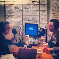 Kurt Andersen and Matthew McConaughey in the studio