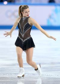 SOCHI, RUSSIA - FEBRUARY 08: Ashley Wagner of the United States competes in the Figure Skating Team Ladies Short Program during day one of the Sochi 2014 Winter Olympics