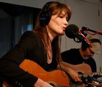 Carla Bruni in the studio