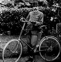 Elgar with his bike, 'Mr. Phoebus'