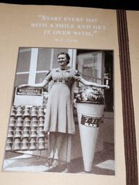 The cover of Julie Bayley's notebook