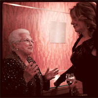 Marilyn Horne and Renée Fleming chat at the 2012 Carnegie Hall Opening Night Gala.