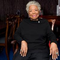 Maya Angelou at home in Winston-Salem, NC.