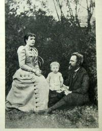 Serge Prokofiev with his parents