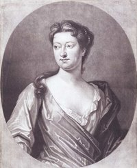 Early 18th century engraved print of playwright Susanna Centlivre