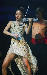 Violinist Vanessa Mae at the Classical Brit Awards