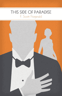 Original book cover design for F. Scott Fitzgerald's This Side of Paradise by illustrator and graphic designer M.S. Corley