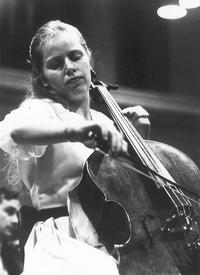 Jacqueline Du Pre during a rehearsal at the Herkulessaal in Munich in November 1967