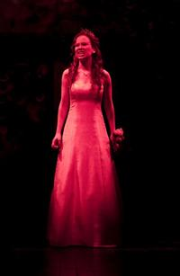 Molly Ranson in a scene from MCC Theater's Carrie.