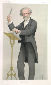 Caricature of Giuseppe Verdi, Vanity Fair, February 1879